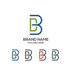 Letter db logo vector