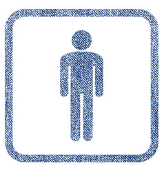 Man fabric textured icon vector