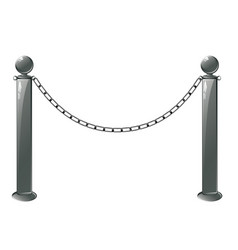 metal barrier stand vector image