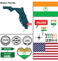 Miami Florida set vector image