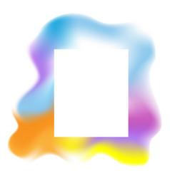 Multicolored blob fluid background vector