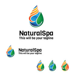 Natural spa logo vector