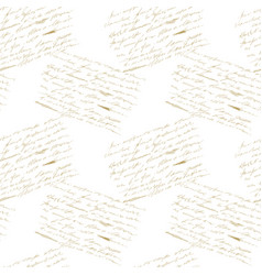 Pattern with golden lettering vector