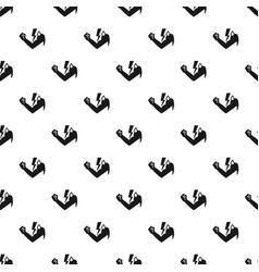 Power hand bolt pattern seamless vector