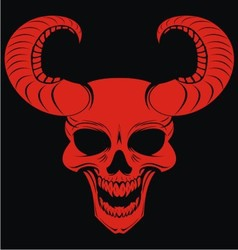 Red Demons Head vector image