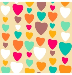 Retro style abstract seamless pattern Valentines vector image