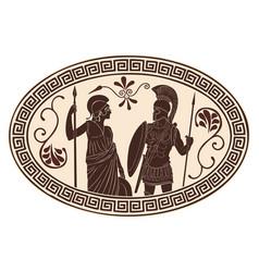 roman and amazon vector image