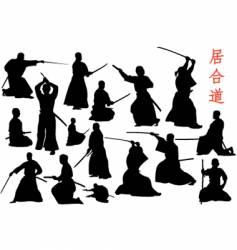 samurais vector image