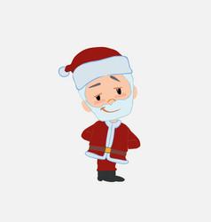 Santa claus smiling peacefully vector