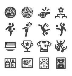 sepak takraw icon set vector image
