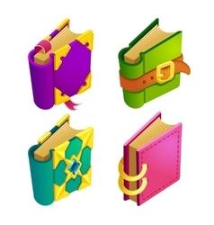set cartoon different color book vector image