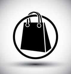 Shopping bag simple single color icon vector image