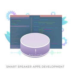 smart speaker apps development flat icon vector image