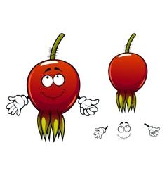 Smiling ripe briar fruit cartoon character vector