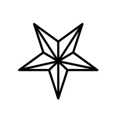 Star five pointed line style icon vector