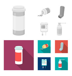 Tablets inhaler container with blood spray vector