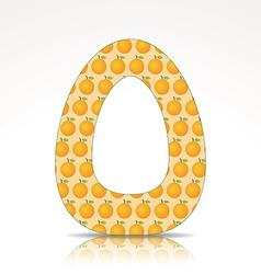 the letter o alphabet made orange vector image