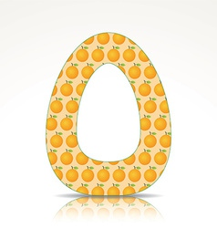 The letter O of the alphabet made of Orange vector