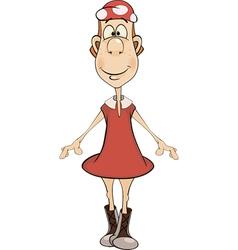 The little girl Cartoon vector
