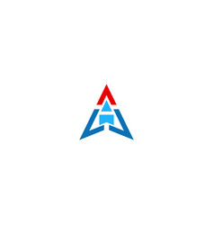 triangle arrow business logo vector image