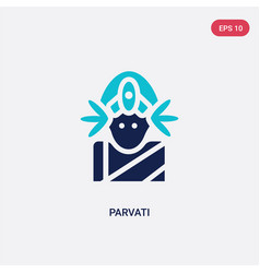 Two color parvati icon from india concept vector