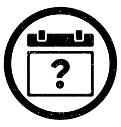 Unknown Date Rounded Grainy Icon vector