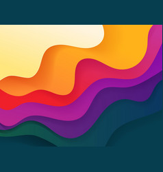 Vivid color abstract geometric background fluid vector