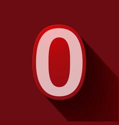 Volume icons number zero vector