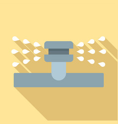 Water sprinkler icon flat style vector