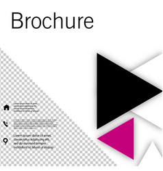 White brochure cover design fancy info banner vector