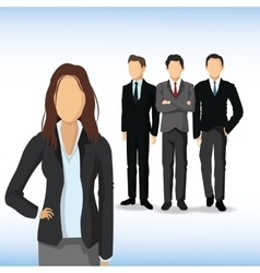 Woman and Man avatar icon Businesspeople design vector