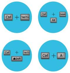Combination of keyboard hot buttons vector