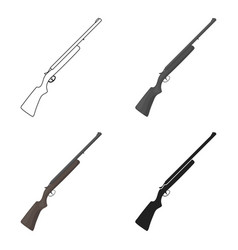 hunting rifle icon in cartoon style isolated on vector image