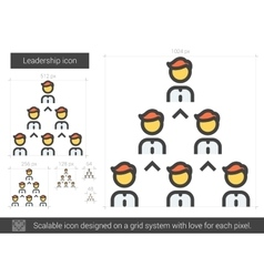 Leadership line icon vector