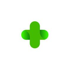 logo cross health logo vector image vector image