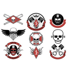 Set of biker badges and emblems vector image