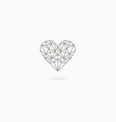simple linear heart vector image