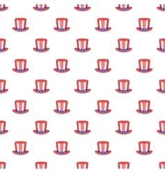 American hat pattern cartoon style vector image vector image