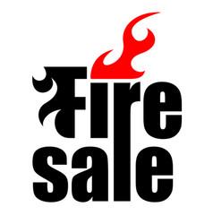 fire sale logo vector image