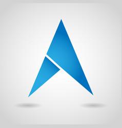 gps arrow navigation icon vector image vector image