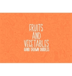 Hand drawn vegetables doodle sketch on white vector image vector image