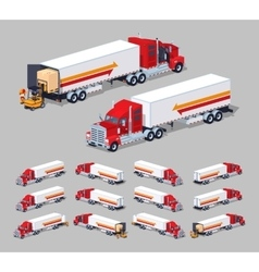 Heavy american truck with the trailer vector image