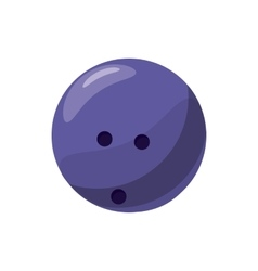 Marbled bowling ball icon cartoon style vector image