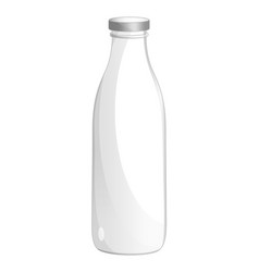 milk glass bottle isolated icon vector image vector image