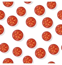 Round tomato slice isolated editable element vector