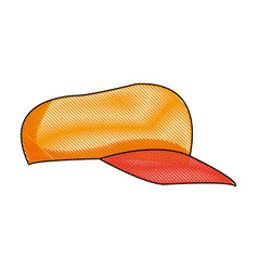 sport cap accessory fashion trendy icon vector image