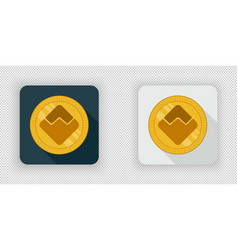 light and dark waves crypto currency icon vector image vector image