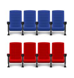 realistic comfortable movie chairs cinema empty vector image