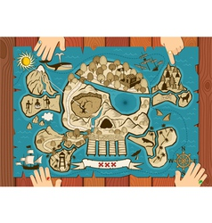 treasure map on desk vector image