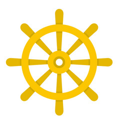 wooden ship wheel icon isolated vector image